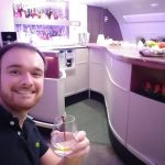 Qatar airways A380 onboard lounge